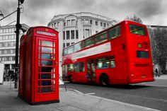 Bilder England Omnibus London Telefon Straße Rot Städte ...