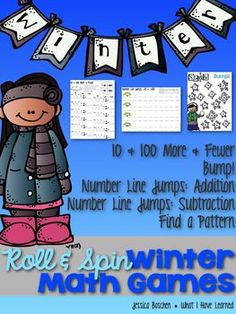 Roll & Spin Winter Math Games - Develop number sense for two- and three-digit addition.