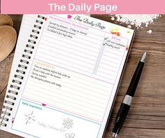 Printable daily or weekly gratitude journal , for mindful reflection and making yourself feel good!