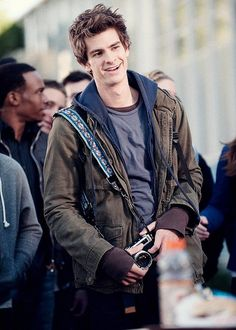 Andrew Garfield - that smirk! <3