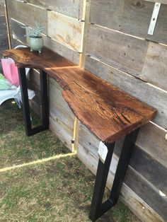 Eloquent Black Walnut CONSOLE TABLE Simple Live Edge