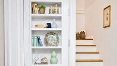 Learn how to build a shelf in a door. Bookshelf Door, Door Shelves, Bookshelves Built In, A Shelf, Build Shelves, Bookcase Plans, Bookcases, Pine Shelving Unit, Mdf Shelving