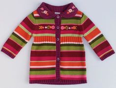 Gymboree Butterfly Girl Striped Floral Cardigan Sweater Sz 3-6 Months NWT #Gymboree #DressyEveryday