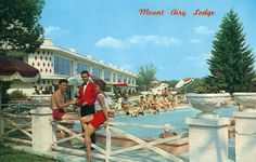 Poolside at Mount Airy Lodge