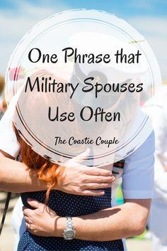 The Coastie Couple: One Phrase that Military Spouses Use Often