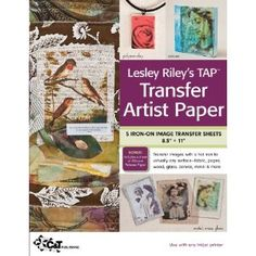 Transfer Artist Paper: iron on any image that you print, paint, or color onto this paper (you can use watercolors, acrylics, crayons, pencils, etc.) How cool is this!!?