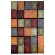 With a great box design in various colors, this rug will add style and color to any room. The plush pile feels great under your feet.