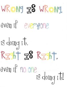 Classroom Freebies: Right and Wrong Poster