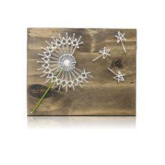Dandelion Mini String Art Kit -Dandelion String art, DIY Crafting Kit, Crafts Kit, Crafts for Adults, Dandelion Decor, all supplies included by StringoftheArt on Etsy https://www.etsy.com/listing/286241587/dandelion-mini-string-art-kit-dandelion