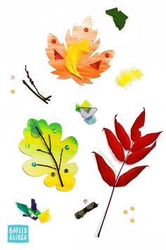 Discover 5 ways kids can use our free printable kids leaf activity kit for fall learning, art and play | via barley & birch