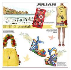 """""""sicilian summer"""" by georginamaybrown on Polyvore featuring moda, Dolce&Gabbana, dolceandgabbana e Julian"""