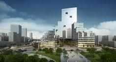Suzhou Creek North Bank, Block 41 & 42 - Shanghai, China | Steinberg Architects
