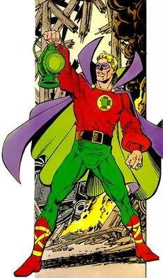 Green Lantern Alan Scott by George Pérez.                                                                                                                                                                                 More