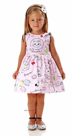 ALALOSHA: VOGUE ENFANTS: NEW SEASON SS'16: Younger girls powder prints dresses by Simonetta Mini