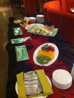 Montaje sushi buffet miércoles