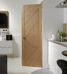 Monza Oak Internal Door #contemporarydoors