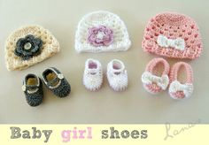 My Merry Messy Life: Crochet Hats and Shoes for Girls by Lanas e Hilos