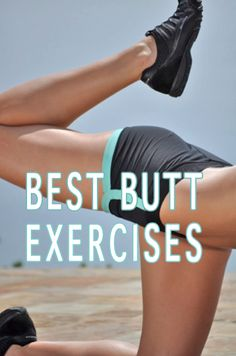 The Best Exercises for a hard, rounded butt. Do 3 times a week with 30-60 seconds rest in between the sets. Repeat twice. Click image to watch video. #fitness #exercise #workout #butt #glutes #weightloss #health