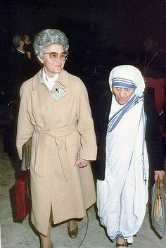 Chiara Lubich e Madre Teresa di Calcutta