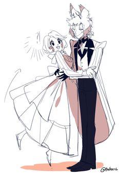Charlie X Alastor °w° Angel Drawing, Body Drawing, Anime Couples, Cute Couples, Yandere Simulator Memes, Monster Hotel, Cartoon As Anime, Anime Art, Alastor Hazbin Hotel