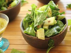 Pistachio and Apple Salad with Gingery Lemon Poppy Seed Dressing