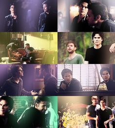 #TVD The Vampire Diaries  Damon & Alaric