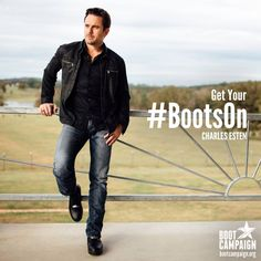 Charles Esten - Boot Campaign - Give Back - Nashville - Street Style - Combat Boots - Country Music - Military - Deacon Claybourne