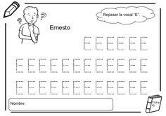 Fichas lectoescritura - Las vocales Small Group Reading, Small Groups, Math Equations, Words, Angel, Patio, Preschool Alphabet Activities, Preschool Worksheets, Kids Worksheets