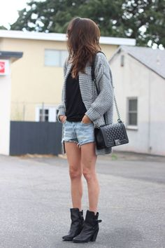 cutoffs + boots