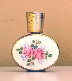 Mini Perfme Bottle With Dainty Flower by RetroRockingCafe on Etsy, $16.00