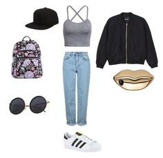 """Something different"" by elmiller95 on Polyvore featuring Topshop, adidas, Monki, Billabong, Vera Bradley and STELLA McCARTNEY"