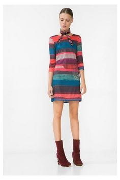 Red+knit+dress+with+stripes+-+M/L+Ankara+Discover+the+fall-winter+2016+collection.+Free+shipping+and+returns+in-store!