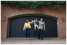 a photo of a toddler and his parents in Old Town Alexandria in the Northern Virginia Washington DC area