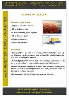 Tupperware - Mousse au chocolat