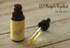 Recept på hur man gör egna myggmedel, på ett naturligt sätt!