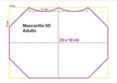 Mascara de tecido 3D: Moldes e medidas em todos os tamanhos para imprimir grátis - Como Fazer Sewing Patterns Free, Free Pattern, Mascara 3d, Diy Kids Furniture, Diy Mask, Diy For Kids, Animals And Pets, Crafty, How To Make