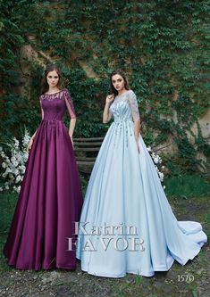 Mother Of The Bride DressSweetheart Prom DressBlue Satin Prom Dresses Long With Sleeves, Blue Wedding Dresses, Bridesmaid Dresses, Gown Wedding, Dress Long, Evening Gowns With Sleeves, Wedding Blue, Sleeve Dresses, Trendy Wedding