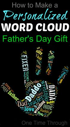 Help your child create an awesome, personalized word cloud gift for Dad or Grandpa for Father's Day this year following our SIMPLE tutorial!