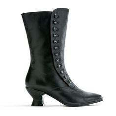 """Tavistock"" Victorian Button Boots (Black)(1890-1925)"