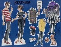 Beatniks JAKE AND ZOE 2012 retro paper doll set