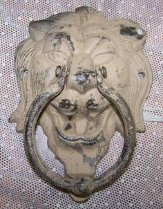 Antique Door Knocker Lion Head Brass Ornament Architectural Salvage Shabby  Chic Porch Decor By VintageLittleGe
