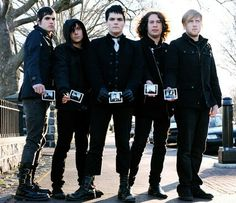 My Chemical Romance from left to right: Mikey, Frank, Gerard, Ray, and Bob