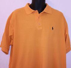 Ralph Lauren Polo Jeans Company Polo Shirt Gold Cotton Size XL #PoloRalphLaurenJeansCo #PoloRugby