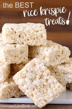 Enjoy the absolute BEST Rice Krispie Treats recipe It s perfectly balanced using just the right amount of marshmallows cereal and butter Read how we taste tested over 20 versions of the recipe to come to this perfect rice crispy treat recipe at Best Rice Krispie Treats Recipe, Rice Krispy Treats Recipe, Original Rice Krispies Recipe, Rice Crispy Recipe, Dairy Free Rice Krispie Treats, Rice Crispy Treats Ingredients, Rice Krispie Bars, Homemade Rice Krispies Treats, Recipe Treats