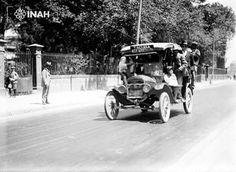 CAMION A TACUBA, EN LA AVENIDA AZCAPOTZALCO, CLAVERIA AÑO 1920