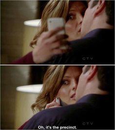 "Castle & Beckett. ""Oh, It's the precinct!"""