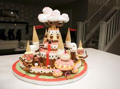 An Adventure Time Candy Kingdom Gingerbread House!!