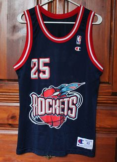 Vintage Champion Houston Rockets Robert Horry Basketball Jersey Mens size 40 #Champion #HoustonRockets #RobertHorry #Basketball #Jersey #Vintage #NBA #Mens