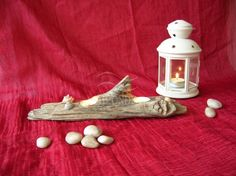 Candle holder, tea light, driftwood, seashell,  portacandele in legno di mare, centrotavola, candleholder, centerpiece, what do you think? https://www.etsy.com/it/shop/h2onde https://www.facebook.com/h2onde