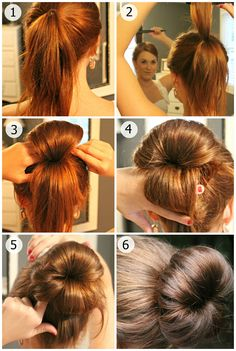 Easier way to get the sock bun look - Imgur